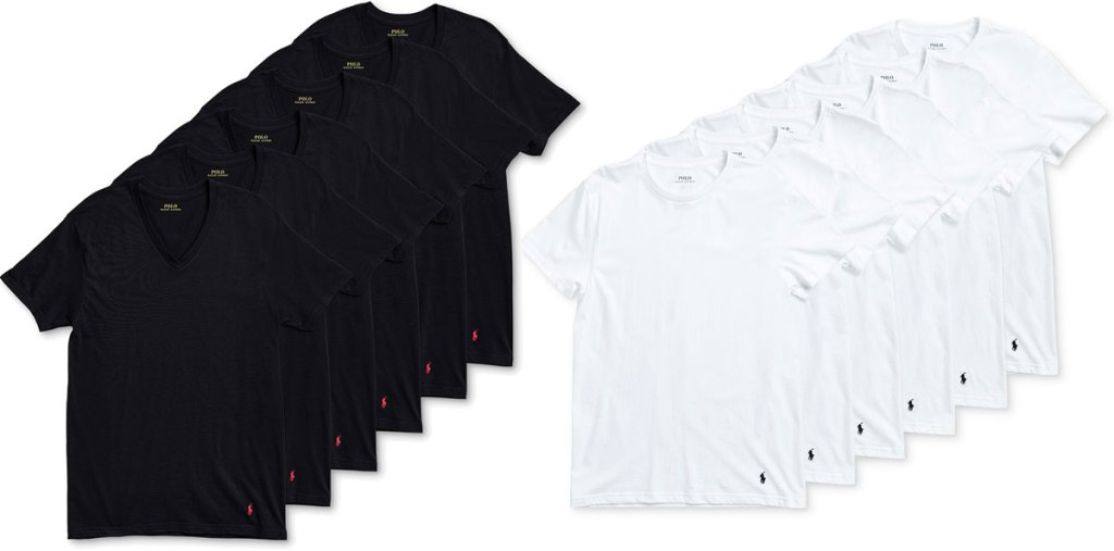 black and white multipack sets of men's undershirts