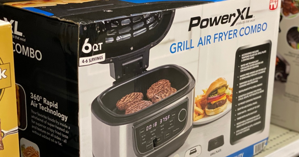 air fryer on shelf