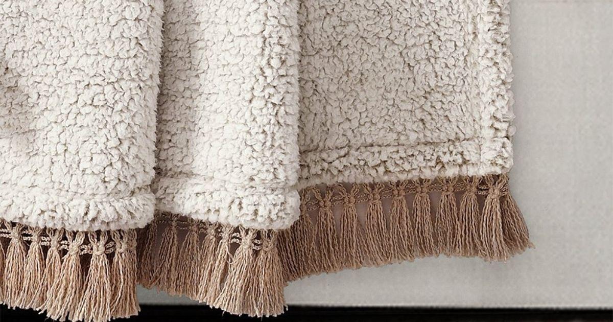 Beige Sherpa Blankets