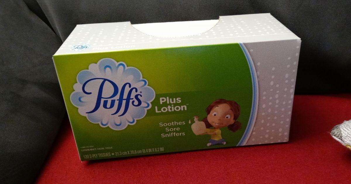 Puffs Plus Lotion Tissue Box