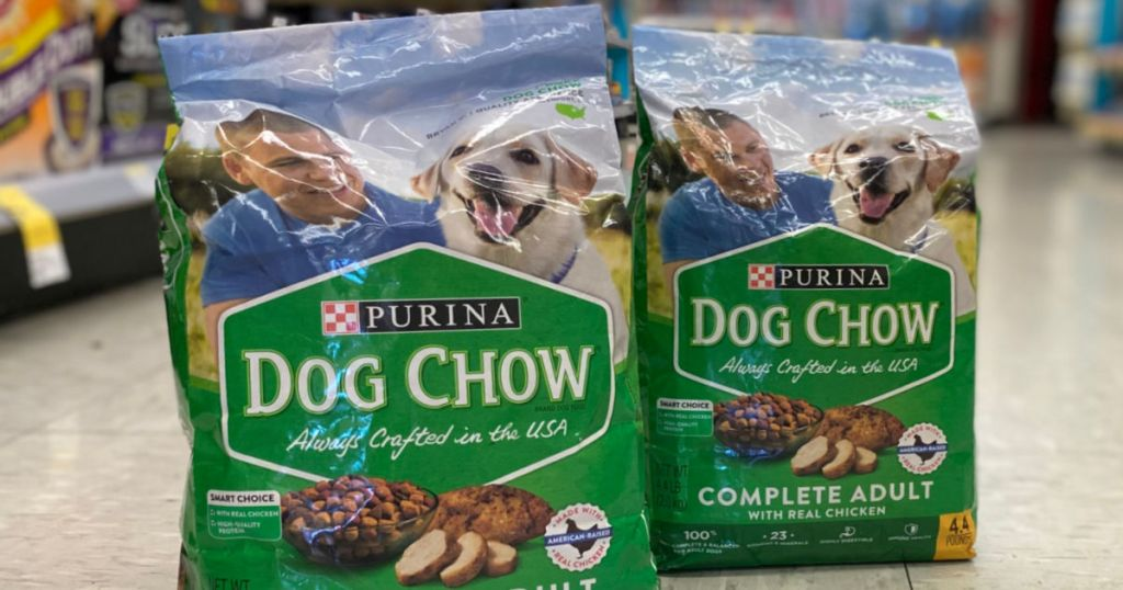 dog food in middle of aisle