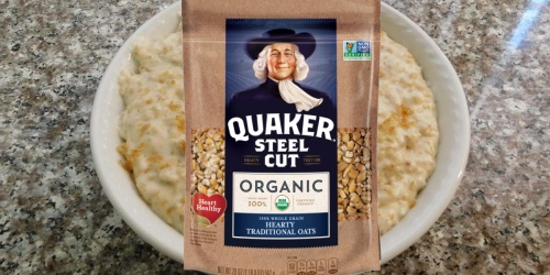 Quaker Organic Steel Cut Oats 4-Count Only $8 Shipped on Amazon | Just $2 Each