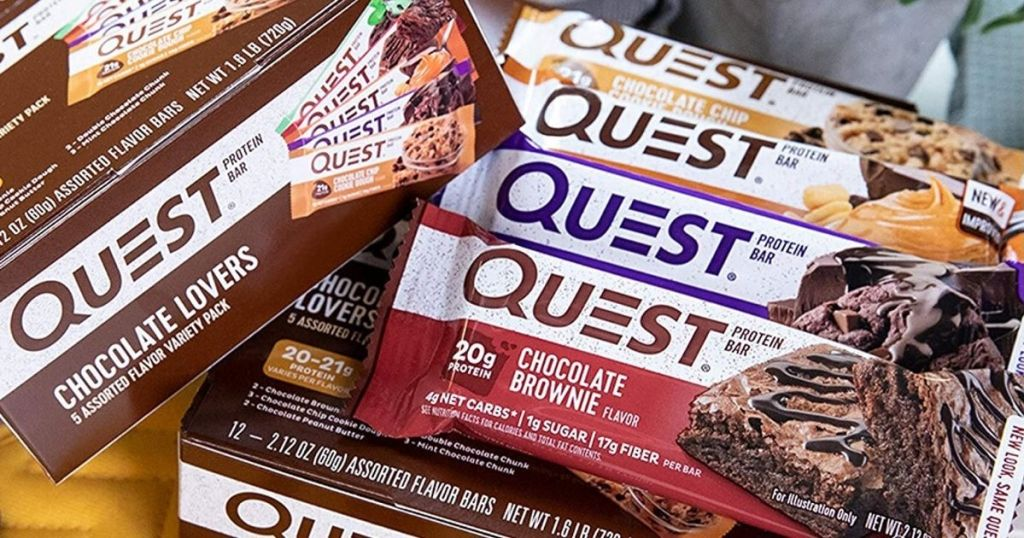 Quest bars on a box