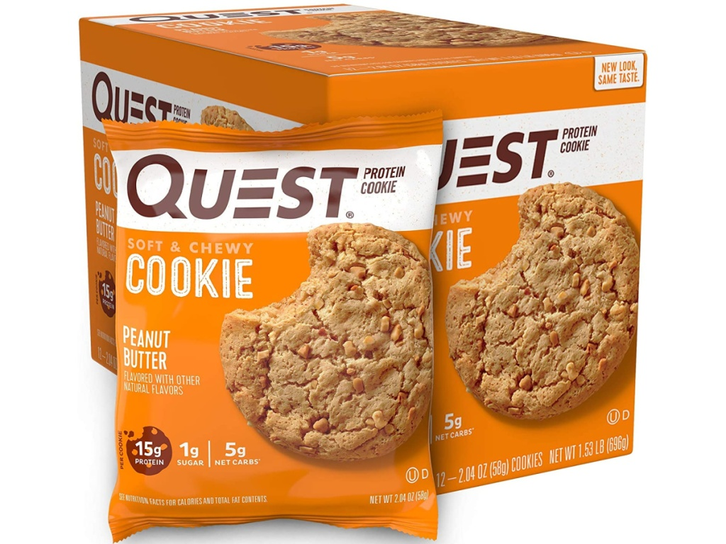 Quest Nutrition 12-Count Peanut Butter Protein Cookies