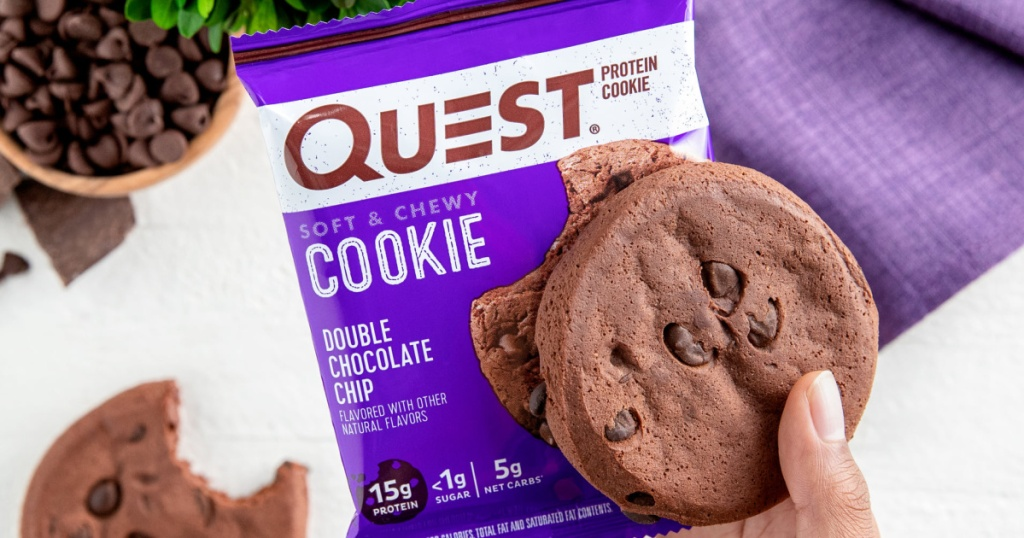 Quest Nutrition Double Chocolate Chip Protein Cookie package