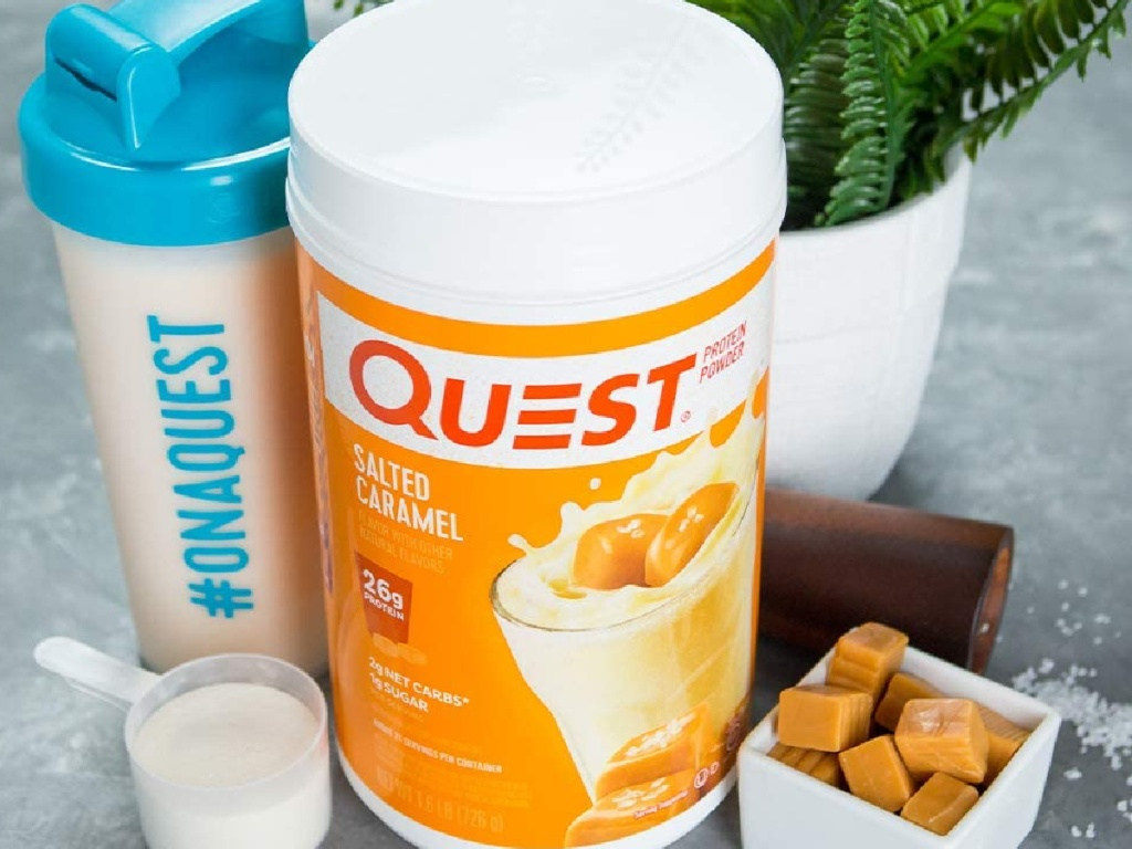question salted caramel protein powder