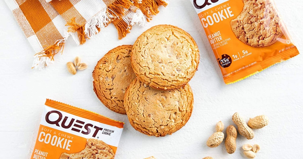 multiple Quest Nutrition peanut butter Protein Cookies