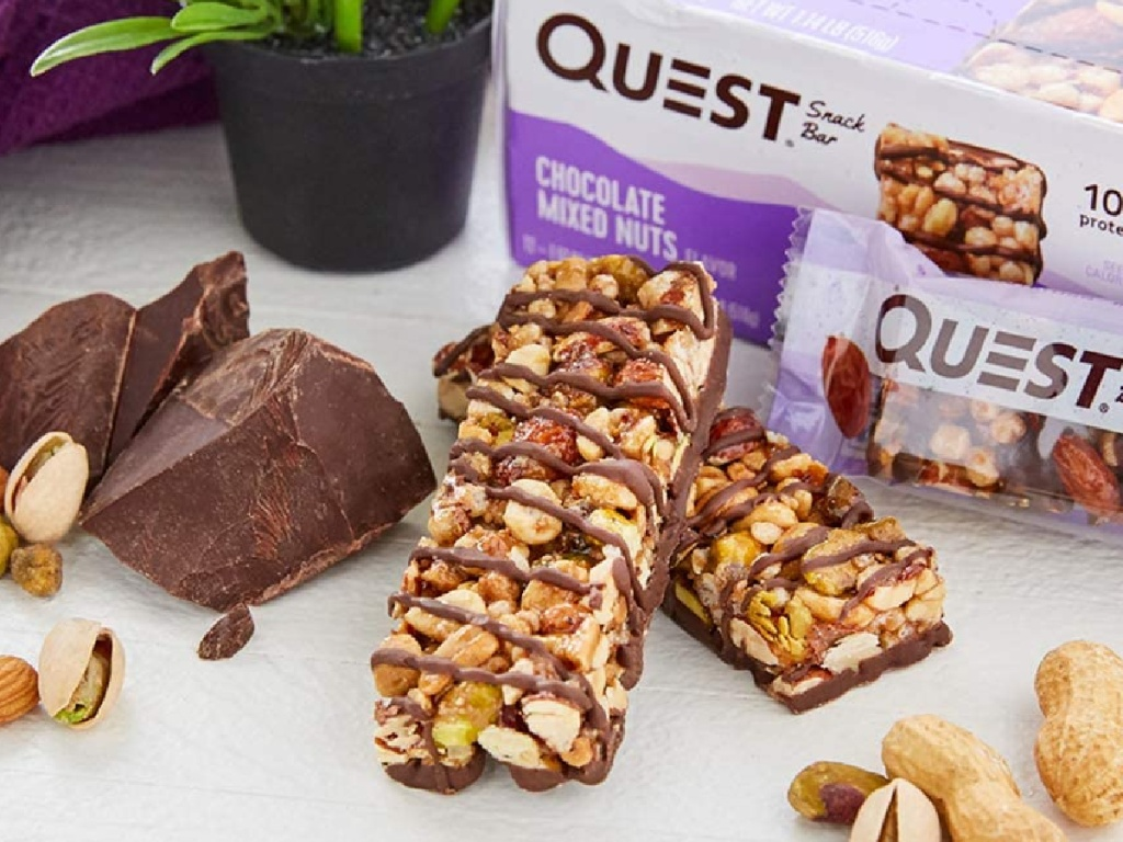 quest mixed nuts protein bars