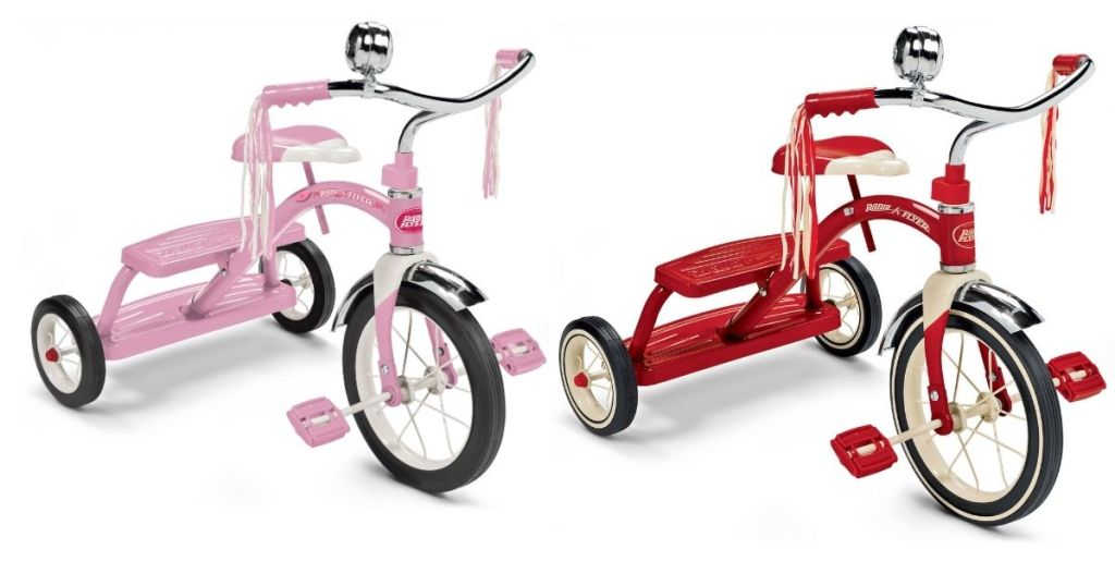 pink and red Radio Flyer Classic Tricycle