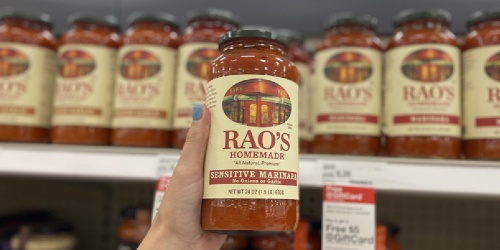 New $1/1 Rao's Coupon = Over 40% Off Pasta Sauce After Target Gift Card | Keto-Friendly