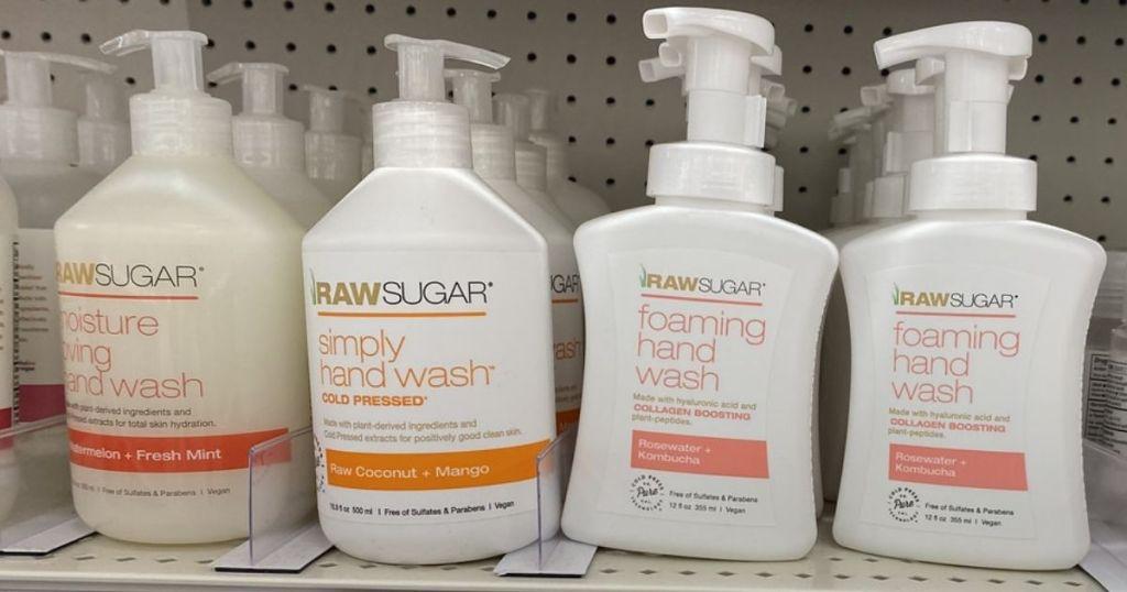 Raw Sugar Simply Hand Soap on shelf
