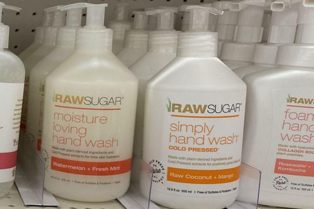 Raw Sugar Simply Hand Wash on shelf