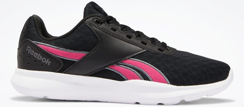 women's black and pink sneaker