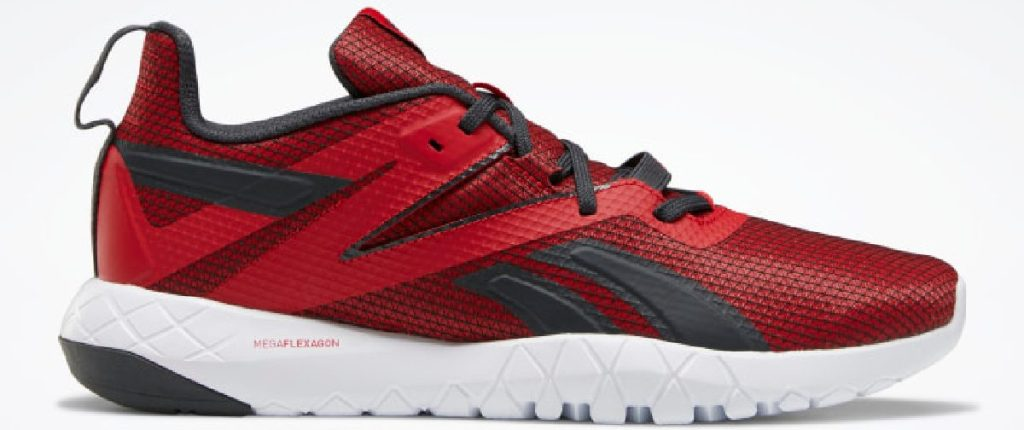 mens red and black sneaker