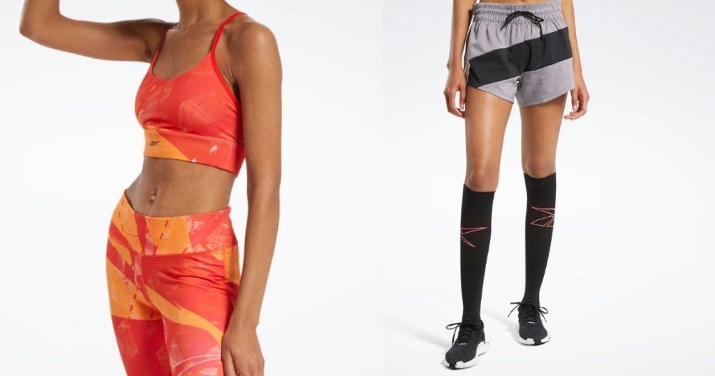 two women wearing Reebok workout apparel