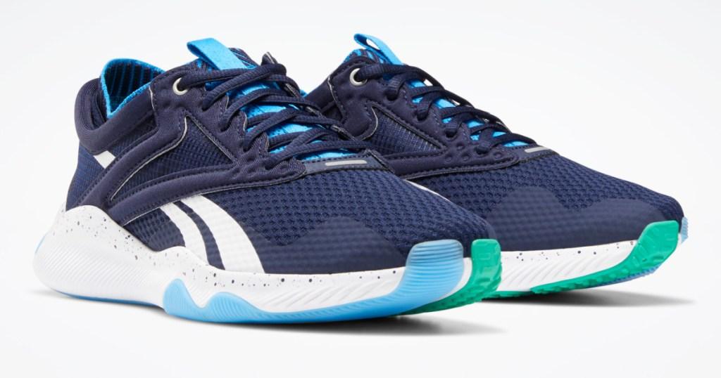 women's dark and light blue sneakers