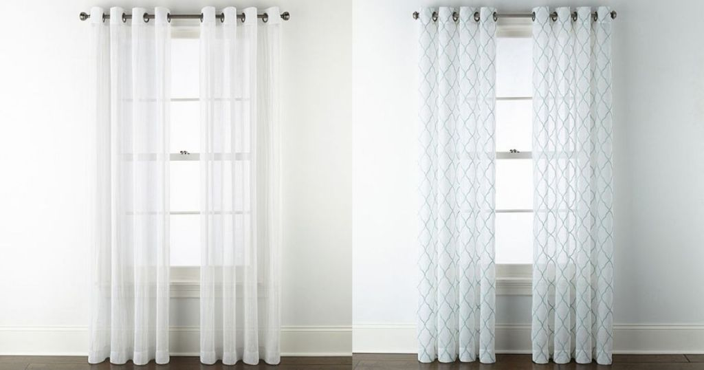 white Regal Home & JCP Home Sheers