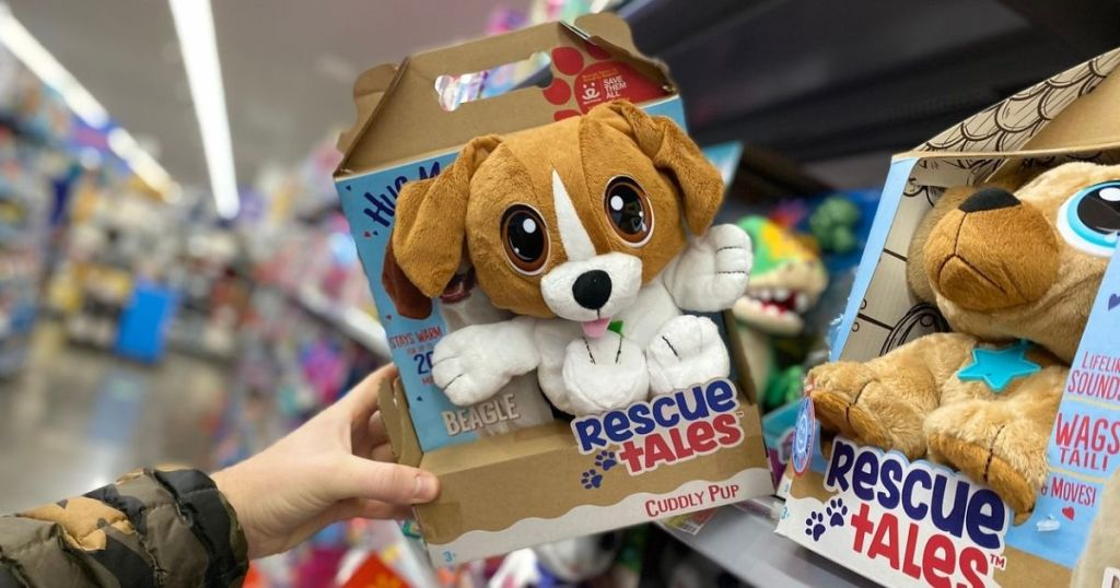 Rescue Tales Cuddly Pup on store shelf