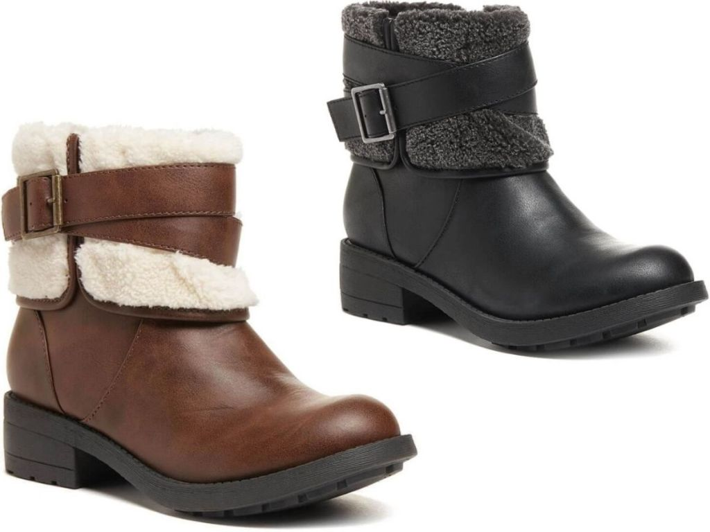 Two Rocket Dog Shearling Boots