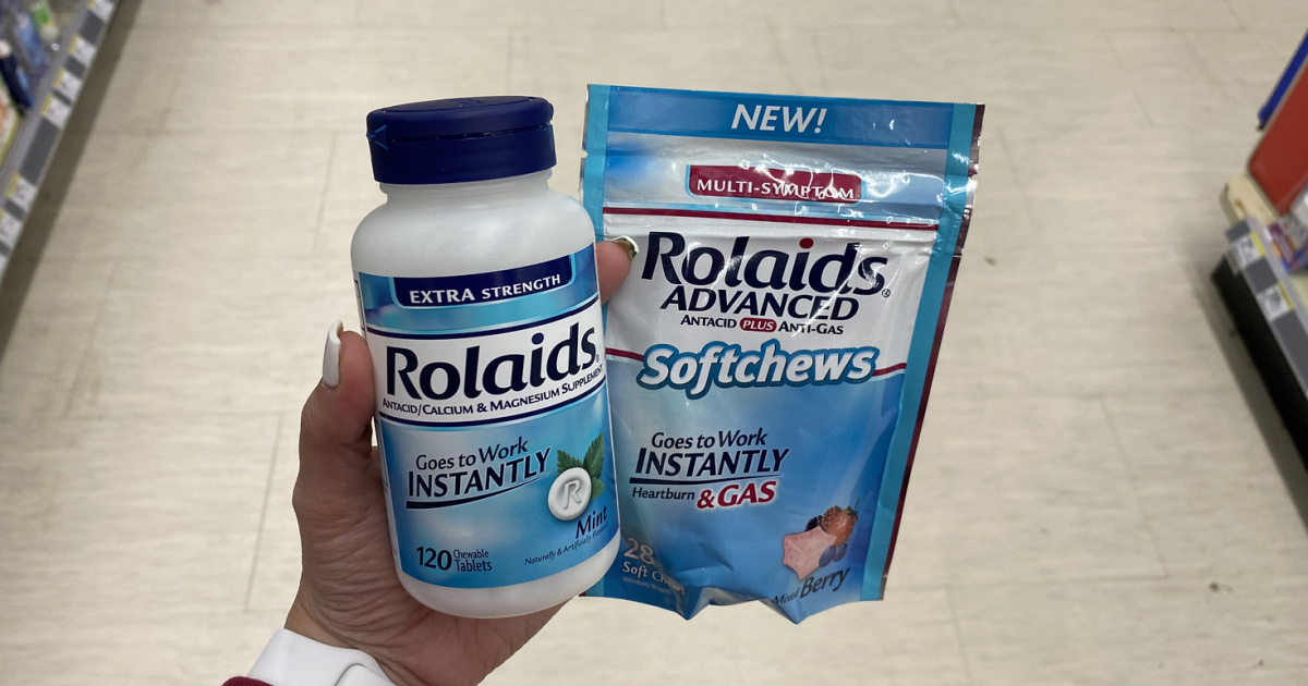 Rolaids Products in hand
