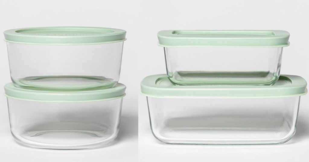 two sets of food containers