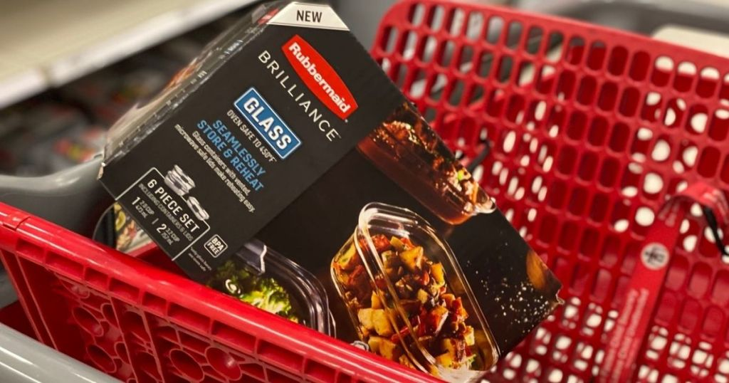 Rubbermaid Brilliance 6-pc Glass Container Set in target cart