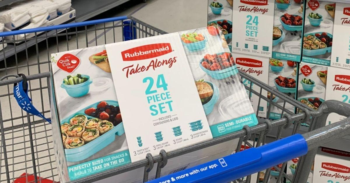 Rubbermaid TakeAlongs 24pc Set in walmart cart