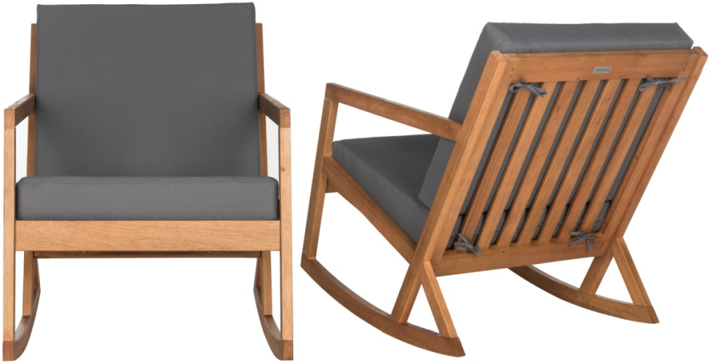 Safavieh Vernon Indoor/Outdoor Modern Rocking Chair with Cushions