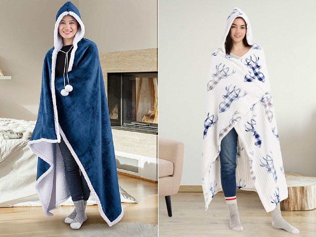 Safdie & Co. Inc Hooded Sherpa Blankets