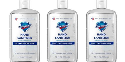 Six Safeguard 12oz Hand Sanitizers Only $11.94 on Walgreens.com (Just $1.99 Each)