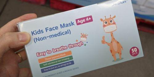 Kids Disposable Face Masks 50-Pack Just $2.98 on SamsClub.com | Only 6¢ Per Mask