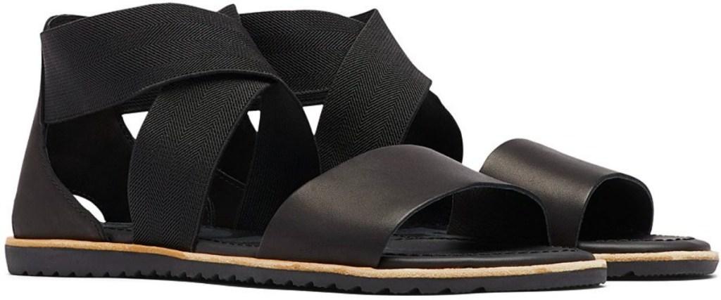 black SOREL women's Sandals