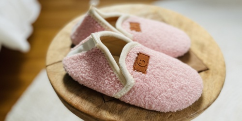 Kids Cozy Sherpa Slippers w/ Non-Skid Soles Only $11 on Amazon