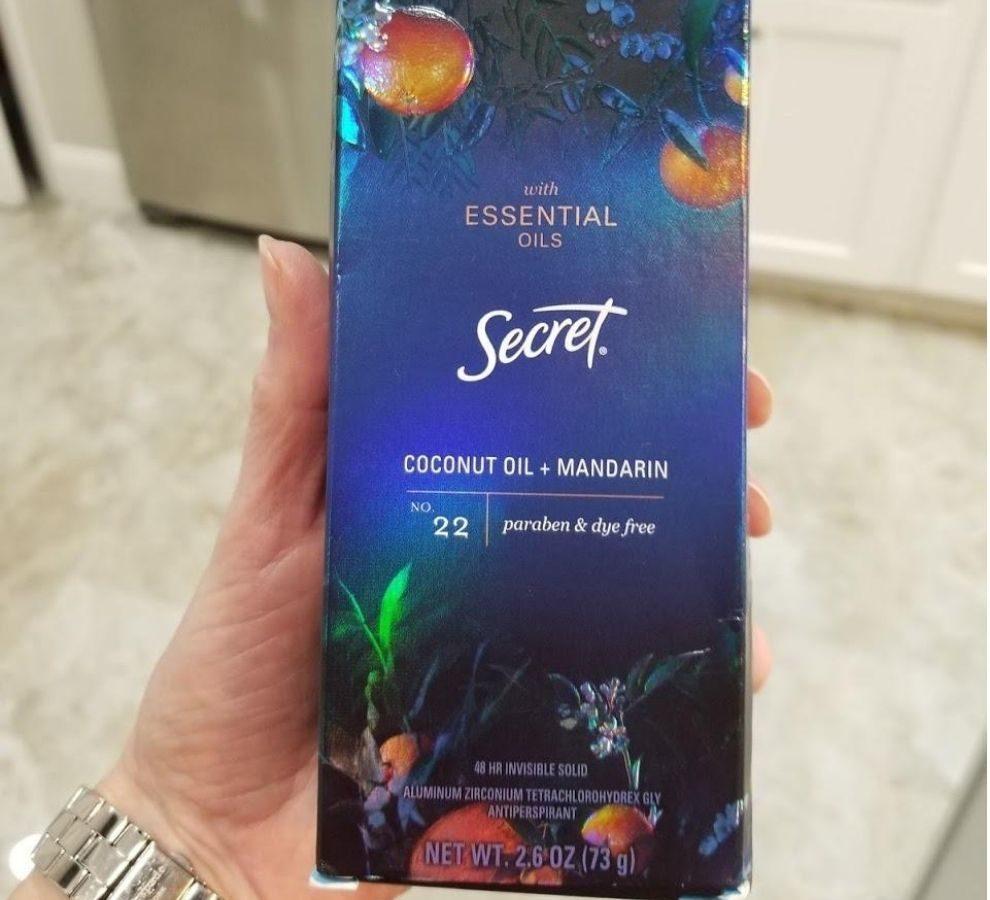 Secret deodorant w/ essential oils
