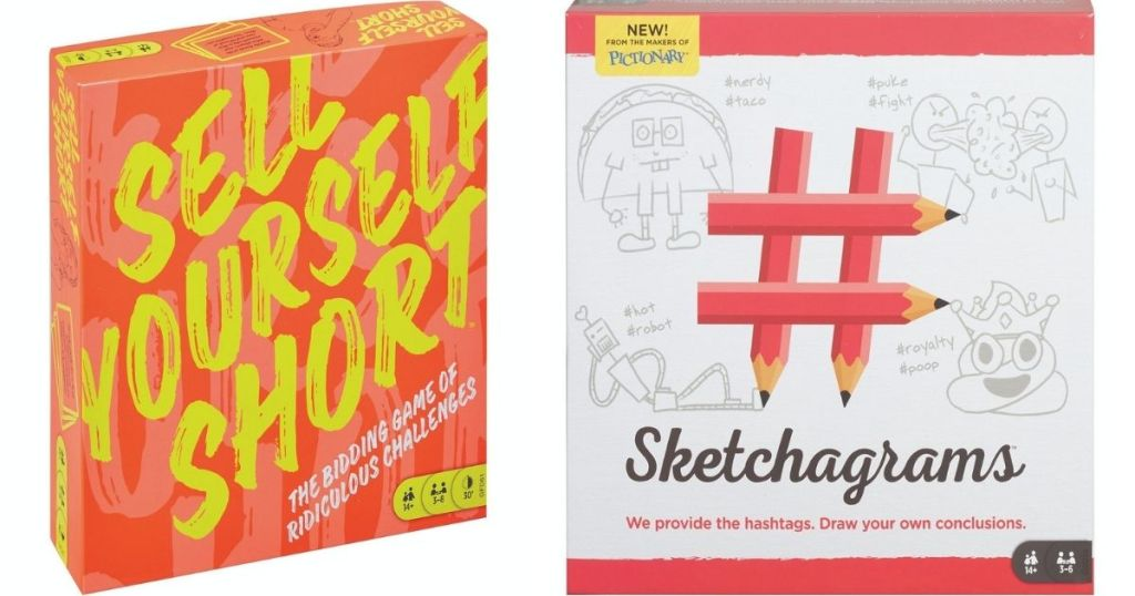 Sell Yourself Short and Sketchagrams games