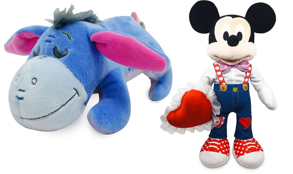 eeyore and valentines mickey mouse plush toys
