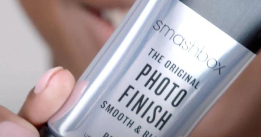 hand showing Smashbox Photo Finish Primer Closeup