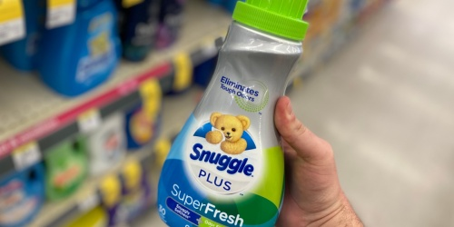 Snuggle Plus Super Fresh Liquid Fabric Softener Just $2.84 Shipped on Amazon