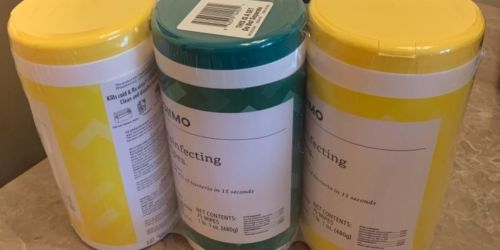 Solimo Disinfecting Wipes 225-Count Only $8.99 on Amazon