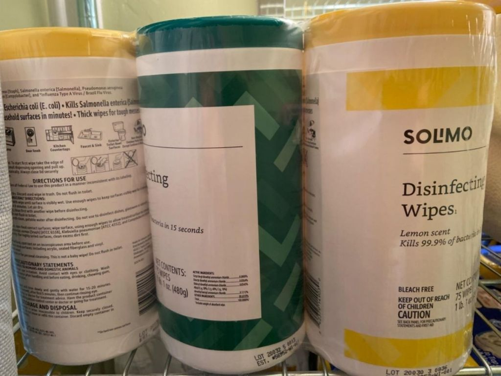 Solimo Disinfecting Wipes