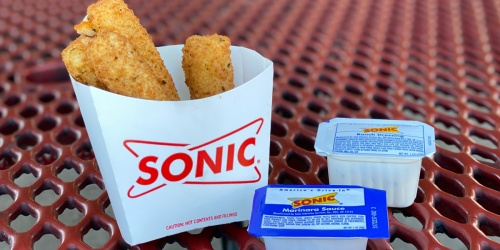FREE Small Side w/ Sonic Entree Purchase | Tater Tots, Onion Rings, or Mozz Sticks