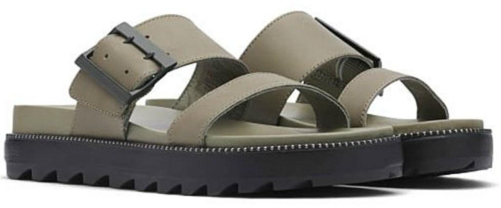 grey sorel shoes