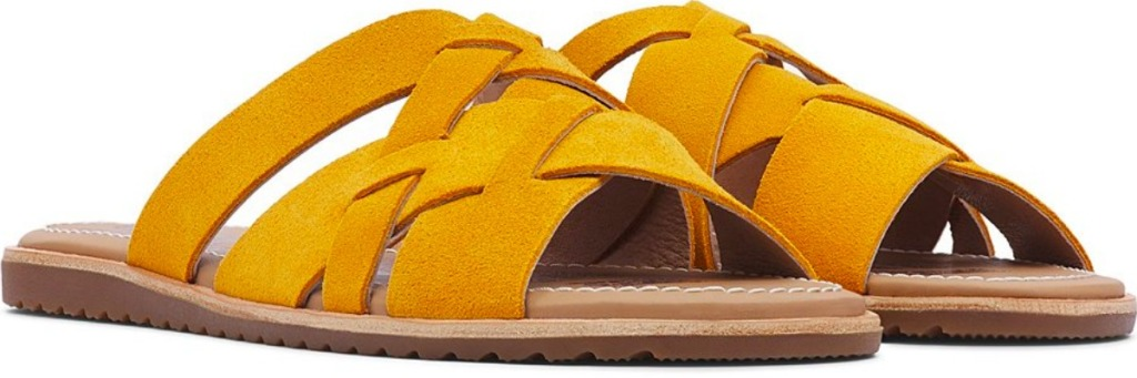yellow sorel shoes