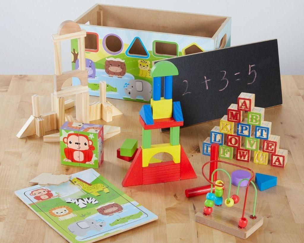 open Spark. Create. Activity Kit on wood table