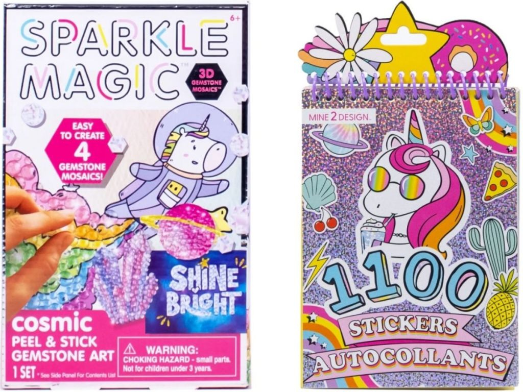 twi kids craft kits from michaels including a mosaic kit and a sticker book