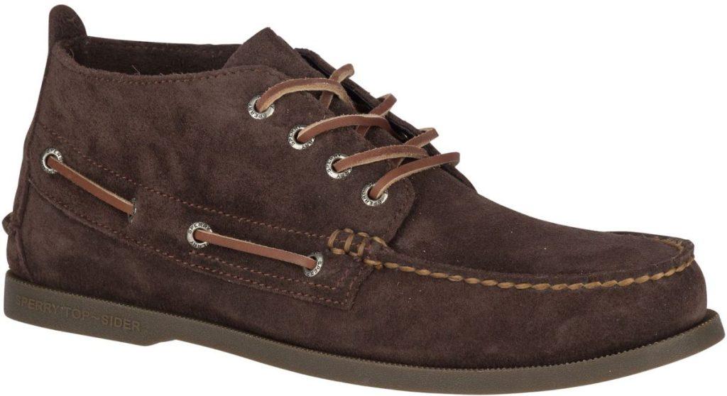 brown men's chukka boot