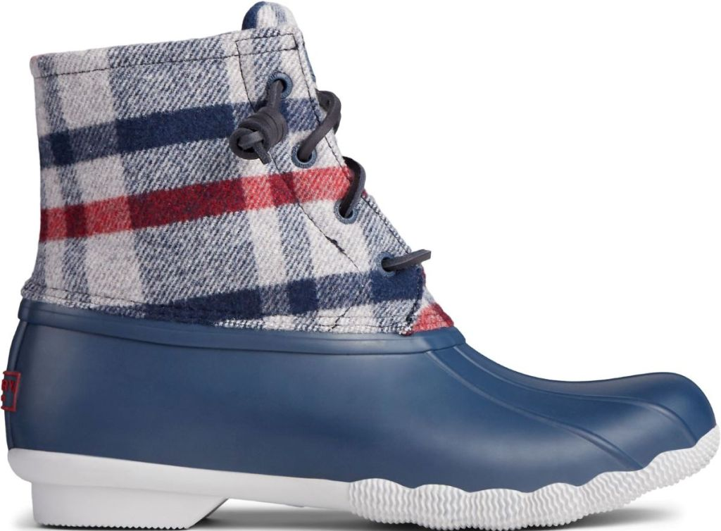 Sperry Wool Plaid Boots