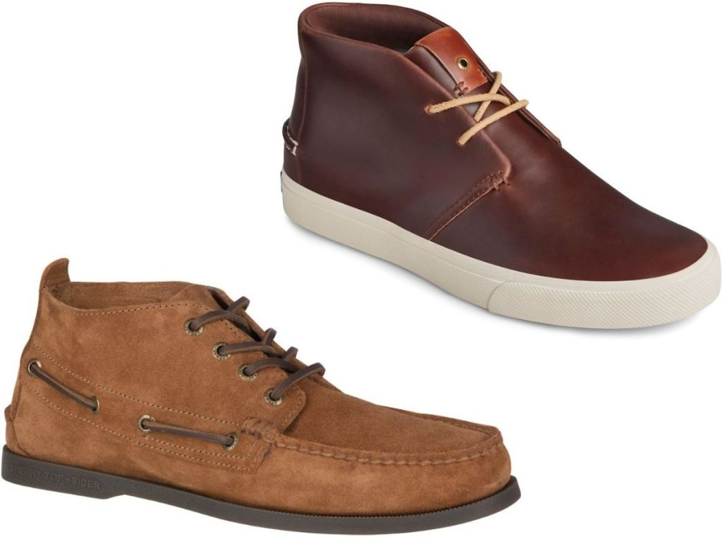 Two men's sperry boots