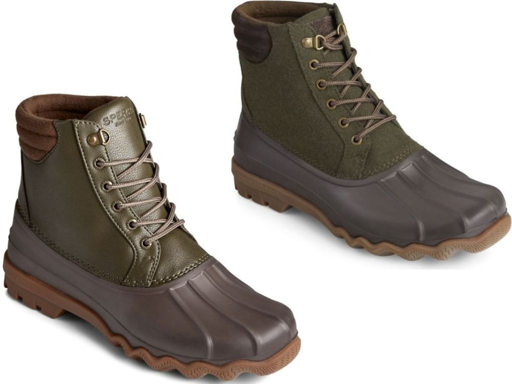 Two men's Sperry Duck Boots