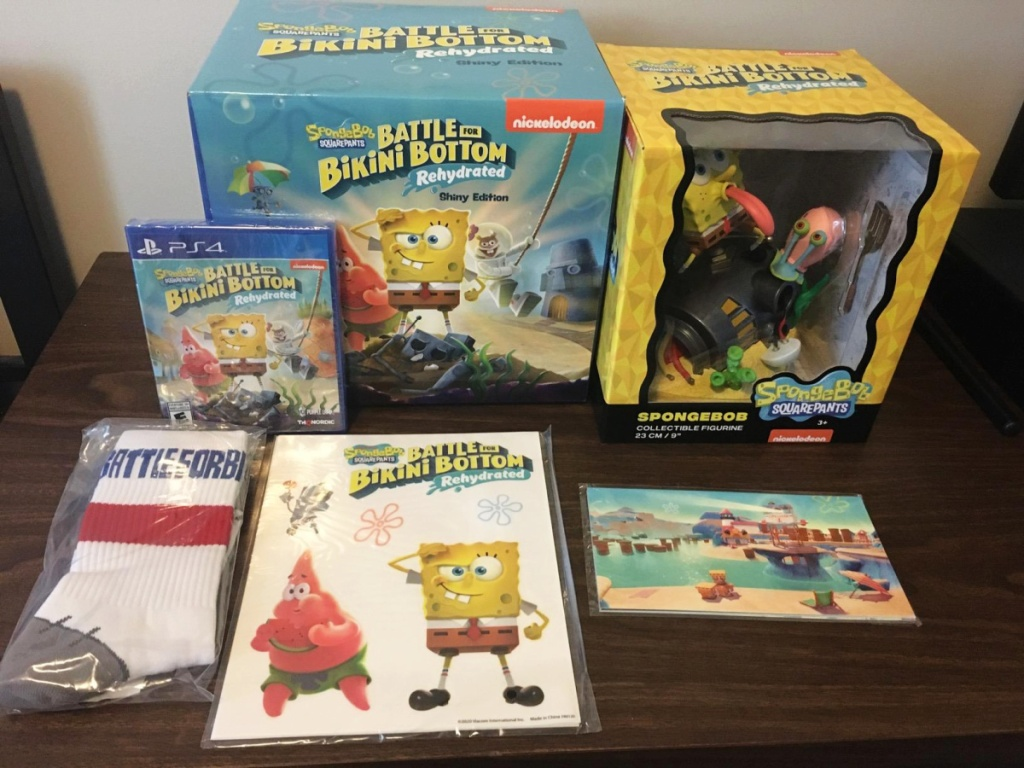 Spongebob Squarepants video game, figure, socks, stickers, and more